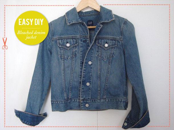 Easy Fashion DIY: Bleached Denim Jacket
