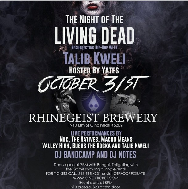 Night of the Living Dead Talib Kweli Cincinnati