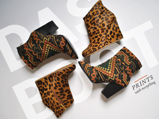 patterned print boots
