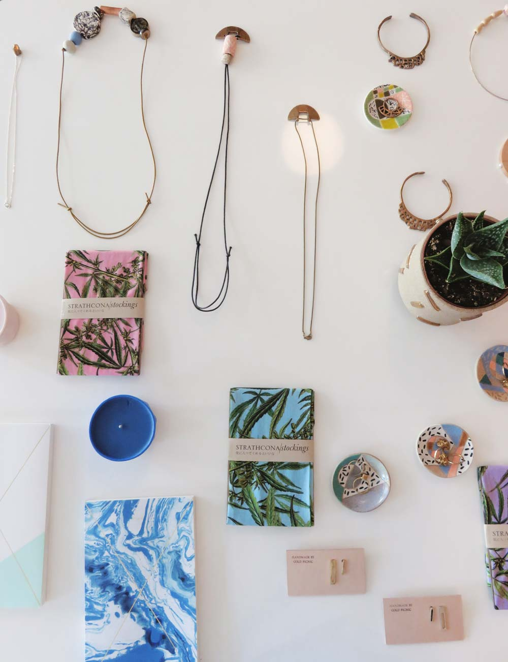 They carry a selection of accessories, from fun printed tights to organic-chic jewelry