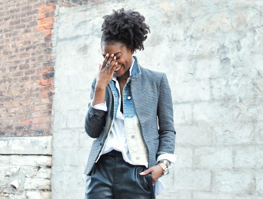 fashion stylist blog - leather pants layers