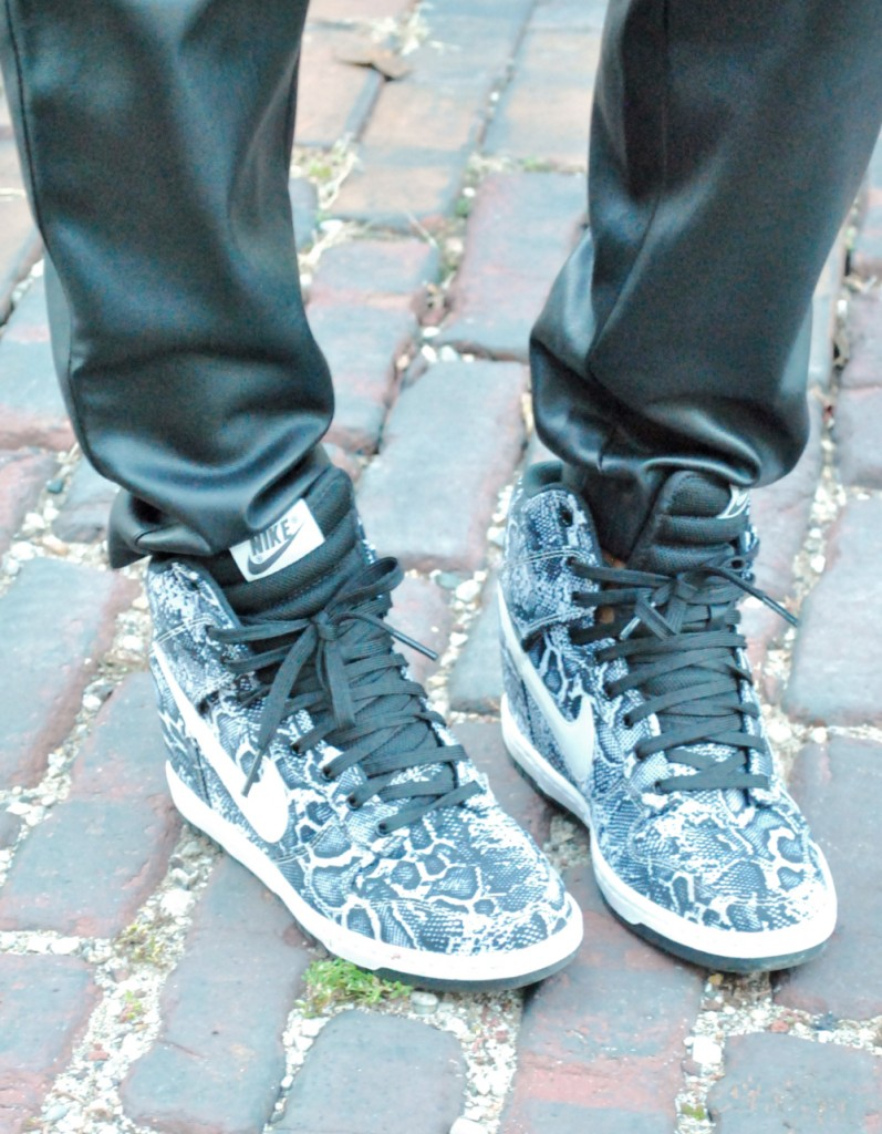 Nike sky high dunk wedge sneakers