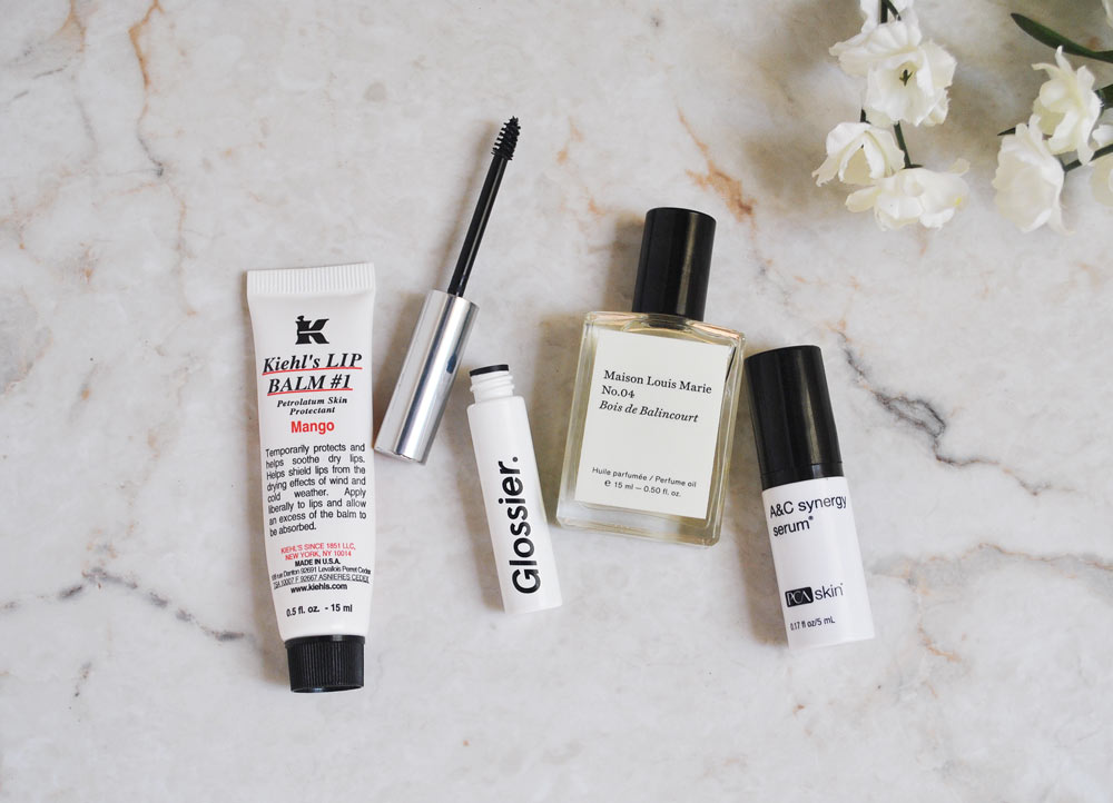 beauty favorites glossier kiel's bois de balincourt